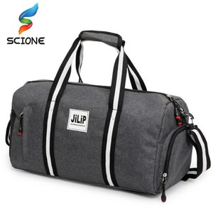 2018 A++ Canvas Sport Bag Training Gym Bag Men Woman Fitness Bags Durable Multifunction Handbag Outdoor Sporting Tote For Male