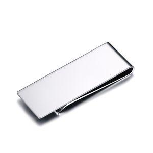 Toda la ventaModa Money Cash Clamp Holder Alta calidad Simple Metal Clip Simple Metal Money Clip Acero inoxidable