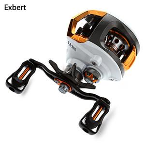 Exbert 12 + 1 Lager Wasserdicht Links / Rechts Hand Baitcasting Angelrolle High Speed Angelrolle mit Magnet-Bremssystem