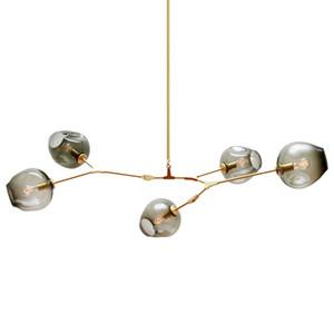 Lámparas de cristal LED que iluminan lámpara moderna lámpara colgante novedad rama de árbol natural suspensión luz de Navidad hotel comedor