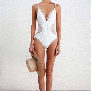 Ker Kundenspezifischer australischer Dame Sexy Reine Farbspitze-Fee-Erscheinen-dünne Fell-Bauch-siamesischer Badebekleidungs-Mädchen-Badeanzug passend für heißen Frühlings-Strand
