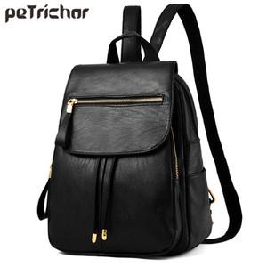Petrichor молния кисточкой большой емкости женщины рюкзак искусственная кожа путешествия дамы сумка женский кошелек девушка мешок школы