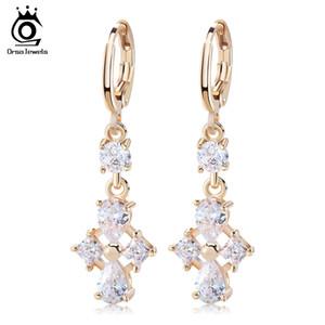 ORSA GIOIELLI Romantici lunghi orecchini a goccia con cristalli per le donne di lusso Chandelier Wedding Jewelry Vendita calda OME38