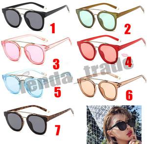 Metall Sonnenbrille Frauen Markendesigner Vintage Sonnenbrille Weibliche Mode Frauen Luxus Dekoration Klassische Brillen UV400 7 farben MOQ = 10 stücke