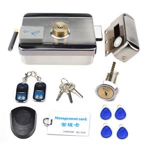 Serrure de télécommande électronique de câblage gratuite Serrure 5pcs Tags RFID Keyfob Dual Lock Head Head Dual RFID Reader RIM pour un interphone de contrôle d'accès