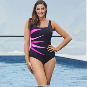 Costume da bagno intero estivo sexy da donna Europeo Fat Big Yard Stampa Costume intero imbottito da spiaggia Abbigliamento da spiaggia Plus Size