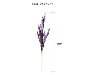 Progetti fai da te Decorazioni per la casa Progettazione di cesto di simulazione Assomiglia a True Plant Disposizione dei fiori Materiale Fiori Provence Lavanda 6 colori