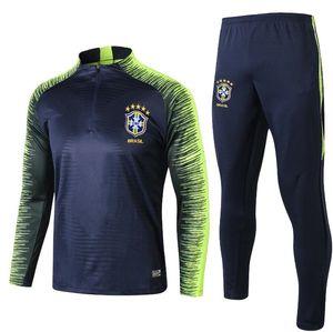 20182019 Brezilya eşofman eğitim takım elbise 18 19 brasil futbol eşofman D. COSTA G.JESUS P.COUTINHO Survetement uzun kollu eğitim suit