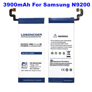 Top 3900mAh EB-BN920ABE Battery for Samsung GALAXY Note 5 Battery N9200 N920t Project Noble N920C Note5 SM-N9208 N9208