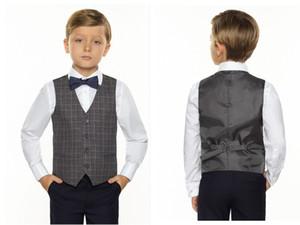 Real London Style Tree Camo Boy's Formal Wear Gilet con cravatta Glen Plaid Groom Boy Vest Cheap Satin Custom Formal Wedding Gilet