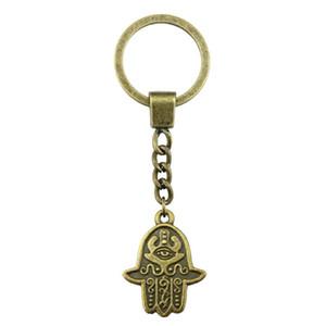 6 Pieces Key Chain Женщины Кольца для ключей моды Брелки для мужчин Хамса рук 24x19mm