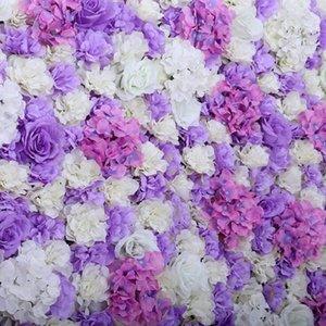 5 unids DIY Hydrangea Artificial Macrophylla Jefes de Boda de Fondo Decorativo Decoración de La Pared 48817738