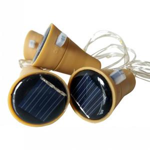 10의 LED 태양 포도주 병 마개 구리 동화의 지구 철사 옥외 당 장식 참신 밤 램프 DIY 코르크 빛 끈