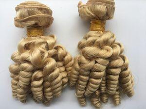 # 613 Platinum Blonde Funmi Menschliches Haar Bundles Virgin Peruvian Frühling Curly Weave Tantchen Romantik Curls Tissage Bleach Blond Hair Extensions