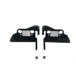 Pedale poggiapiedi per esterni in acciaio nero, pedaliera per il 1996-2007 Jeep Wrangler TJ