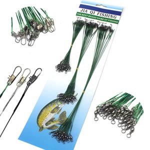 Spinner metal Döner Balıkçılık hattı Halat ile hatlar 72pcs hatları Lider için tel Lider hattı 15 22 cm 30 cm Balıkçılık Aksesuar