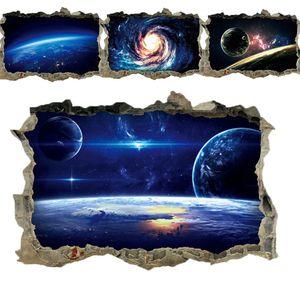 Kreative 3D Universum Galaxy Wandaufkleber Für Decke dach fenster aufkleber Wandbild Dekoration Persönlichkeit Wasserdichte Boden Aufkleber