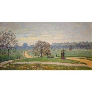 Lienzo pintado a mano pinturas al óleo de Claude Monet Hyde Park pintura para decoración de paredes