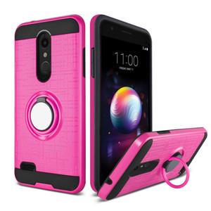 Для LG Stylo4 Stylo 3 K10 2018 K20 Plus Aristo 2 3D Ring 360 градусов подножки Новейшего телефона дело
