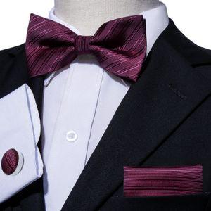 Мужские вина красный шелковый галстук-бабочку вечернее платье галстук-бабочку свадьба жених жених ведущий церемониймейстер галстук-бабочку Бесплатная доставка LH-0814