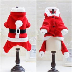 Abbigliamento per cani di Natale per cani di piccola taglia Inverno Caldo Puppy Cat Abbigliamento Tuta Chihuahua Pug Cappotto Cappotto Giacche Animali Costumi
