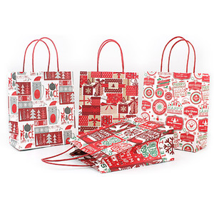 Weihnachtsgeschenk Kraft Paper Bag Kreative Bronzing-nette Karikatur Weihnachts Verpackung Einkaufstasche Freie DHL-884
