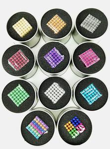 12 opzioni di stile di colori MagnetiCube Gioca magnete 216pcs per lotto di Dia5mm, bambini giocano a perline, regali di stile modificati, fai da te giocano a magnete