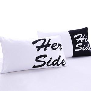 Seine Seite Paar Kissenbezug BeddingOutlet schwarz und weiß Bett Kissen Fall weichen Kissenbezug Geschenk für ihn oder sie 2 Stücke 2 Größen
