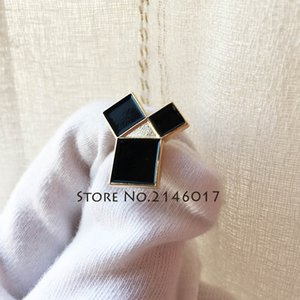 2pcs Masonic Euclid's 47th Problem Tie Tack Pins Spilla Pythagorean Theorem Metal Badge Freemason Black Soft Smalto Spilla