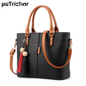 Petrichor большой емкости кисточкой сумка женщины мягкая кожа женская сумка Crossbody Messenger сумки женский кошелек сумка для женщин