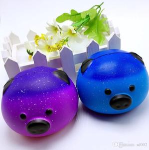 Свинья форма Джамбо болотистый звездное небо круглый PU Squeeze Squishies медленный рост Squeeze декомпрессии игрушки для детей взрослых супер Kawwaii 9bq ZZ