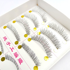 10 Pairs Of Transparent Terriers Cross False Eyelashes Direct Selling Natural Nude Makeup Taiwan Handmade Eyelashes3