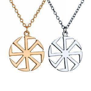 Slavic Symbol of the Sun Ciondolo in vespa pagana con pendente del sole scandinavo, gioielli nordici vichinghi, amuleti scandinavi