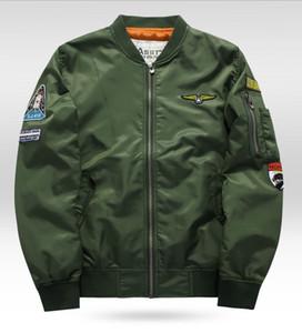 Venta al por mayor- Grandwish Ma-1 Flight Bomber Jacket Men 6XL Parches Hombres Pilot Bomber Jacket Patch Diseño Bomber Jacket Chaquetas para hombres