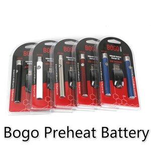 BOGO LO Preheat Battery Starter Kit Co2 Oil vape tank Vaporizer Pen Variable Voltage 510 Thread VV 400Mah Electronic Cigarettes Batteries