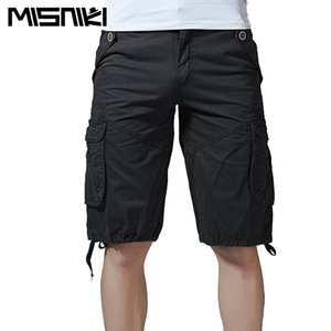 MISNIKI 2018 Men Cargo Shorts Casual Loose Camouflage  Summer Style Knee Length Shorts Homme AXP81
