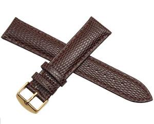 New Black Brown Watchband Lagartos Grain18mm 20mm 22mm 24mm Homens relógios Pulseira Cinta de PulsoBatchBatch fit marca Frete Grátis