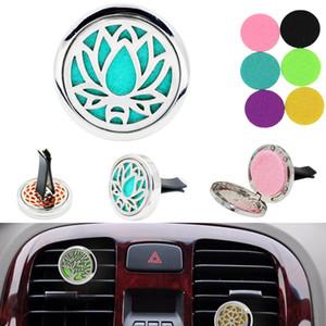 Difusor de aceite esencial de Aromatherapy para el clip del Locket del coche con 5PCS almohadillas de fieltro lavables envío gratis