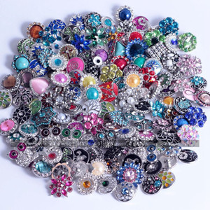 18mm Noosa Sale Mix Snap Buttons Sales Random Choice Crystal Charms Accessories