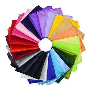 Moda Uomo Classico fazzoletto Hanky imitato Tessuto di seta Vestito Tasca asciugamano 35 Colori 22 * 22 cm Pocket Piazza T2I052