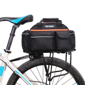 Road Waterproof Handbag Cycling Bicycle Rack Seat Storage Pannier Trunk Bag Polyester Riding Travel Bags Mountain Bike 15L Rear Totjr