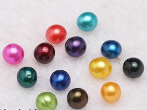 2018 neue Runde Oyster Perle 6-7mm Mix 28 Farben große Süßwasser Geschenk DIY Natürliche Perle Lose Perlen Dekorationen Vakuum Verpackung