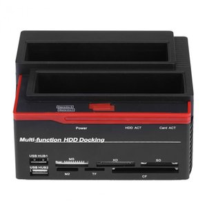 "Freeshipping 2.5 / 3.5 ""SATA IDE HDD 도킹 스테이션 복제 HDD 엔클로저 USB 2 포트 USB 2.0 허브 MS / M2 / XD / CF / SD / TF 카드 리더"