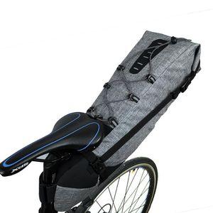 Sillín de bicicleta impermeable Bolsa 12L Ciclismo Cola trasera Bolsa de asiento trasero MTB Tronco Accesorios de bicicleta Bolsa de gran capacidad para bicicleta trasera Pannier 8T6RW