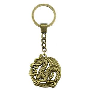 6 Pieces Key Chain Женщина Кольцо для ключей пара брелока для ключей Dragon 33x31mm