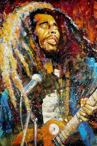 BOB MARLEY - Abstract Graffiti Portrait Picture Hand Painted & HD Print Home Wall Decor Art Oil painting on canvas g183