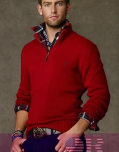 Venta al por mayor-nueva llegada cardigan cuello en v suéter de polo, hombres de algodón abrigo informal, marca de moda jersey de punto jersey de media cremallera