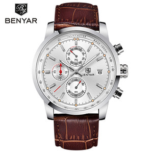 BENYAR Fashion Chronograph Sport Mens Watches Top Luxury Quartz Watch Reloj Hombre 2017 Clock Male hour relogio Masculino