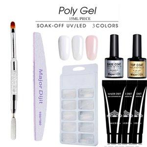 Novo 6 pçs / set polonês gel verniz Set Poli gel kit Quick Builder Prego Extensão camuflagem Gel UV UV LED laca escova Prego