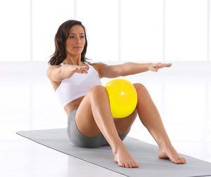 4 farben 25 cm mini yoga ball körperliche fitness ball für fitness gerät übung balance ball hause trainer balance schoten gym yoga pilates